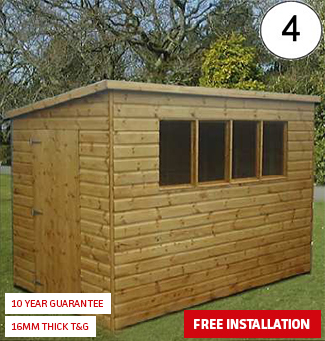 Pent shed with side door sheds n chalets for 12x8 shed with side door